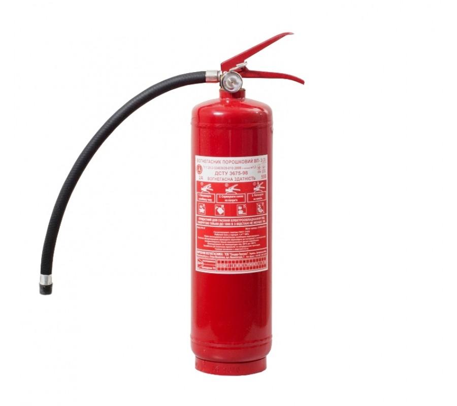 Огнетушитель порошковый ВП-3 (з) фото - купить