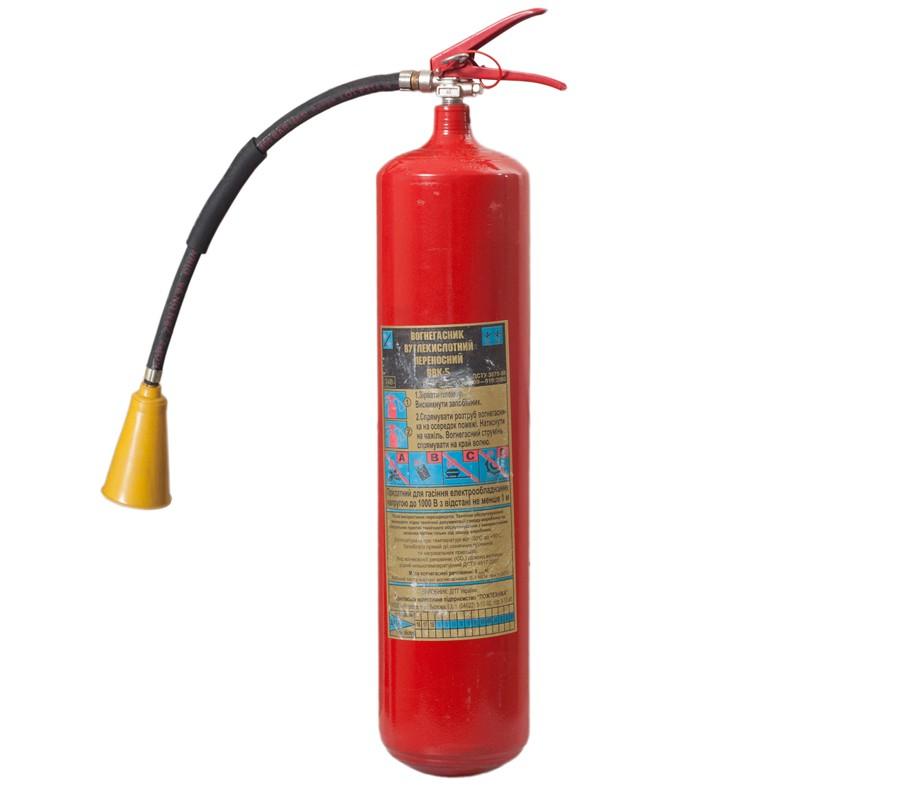 Огнетушитель углекислотный ВВК-5 фото - купить